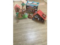 Sylvanian families treehouse, cabin and families