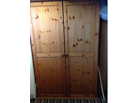 Solid pine wardrobe larger than usual,..