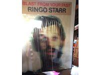 RINGO STARR PLASTIC PROMO POSTER 1970S