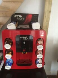 New Nescafe & Go coffee and tea vending machine. New with box. And £40 worth of stock
