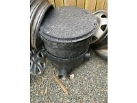 Inspection chamber / man hole with base, riser & lid