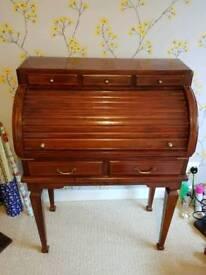 Solid Mahogany Bureau Desk