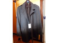 M&S 'Large' Collezione Gents Grey/Brown Checked Coat - New with labels (unworn)