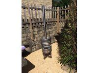 Stainless steel wood burner