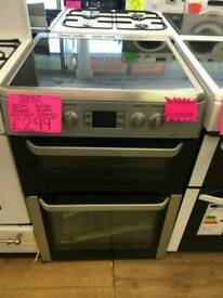 BEKO 60CM ELECTRIC DOUBLE OVEN COOKER IN SILVER ☆BRAND NEW ☆