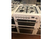 60CM WHITE HOTPOINT DUEL FUEL GAS COOKER
