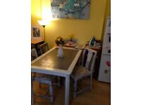 Kitchen table with tiled top