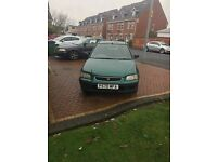 Honda Civic 1.4, Green, P Reg, Mileage 104435, No MOT. £250 ono