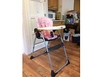 Wooden Cot, High Chair and Baby Bath For Sale