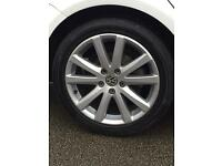 "17"" vw alloys fully refurbished and new tyres"
