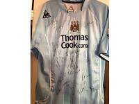 Signed Man City strip from mark Hughes time as manager