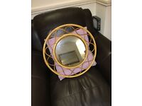 Bamboo / wicker mirror