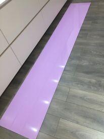 OPTICOLOUR ex display Toughened Glass splashback pink lemonade/powdery lilac/pink
