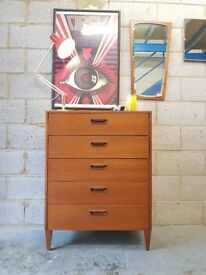 Retro Teak Mid Century Chest of Drawers