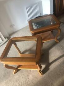 2x Side tables and coffee table