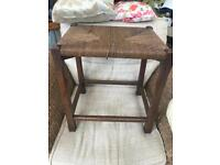Large Hand Woven Table 100+ years old