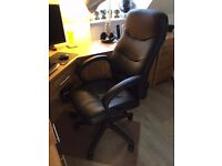 Top Quality Black Leather Office / Computer Swivel Chair