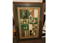 Beautiful Art Picture papirus Woodframe