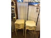 Vintage bedside cabinets x2
