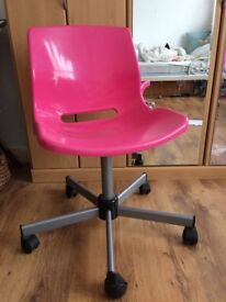 Pink swivel chair from Ikea