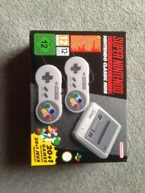 Super Nintendo SNES Classic PAL Design available now. New & perfect condition