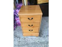 Pine effect bedside table