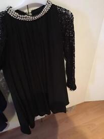 Pakistani designer black shirt medium