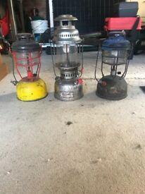 3 x fishing lamps