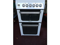 Hotpoint Ultima Free standing Electric cooker with ceramic hob