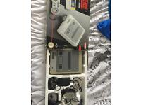 Super Nintendo snes boxed and quite grubby and worn