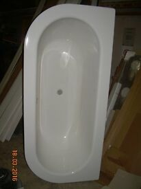New Unused Bathtub for sale - Bette Bettestarlet I - Oval Bath BetteGlaze Plus White - 165 x 75
