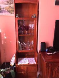 Free tall display cabinet