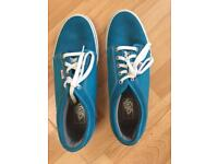 Vans classic suede turquoise/Blue shoes size 10 UK