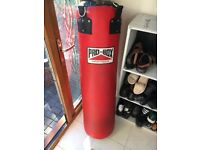 Pro Box Red Heavy Leather Punch Bag 4ft (35kg)