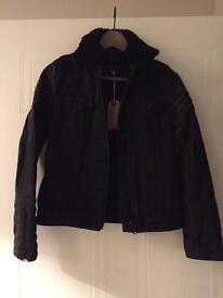 All Saints Womens Black Denim Jacket. Brand New