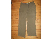 Womens walking trousers, colour :khaki, size 10 make: Crag Hoppers