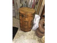 Solid OAK trunk storage wooden box