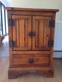 Distressed Solid Pine Cabinets