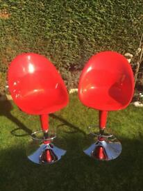 Red breakfast bar stools