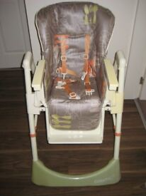cosatto high chair ,vgc with two height positions and an underseat basket and folding legs