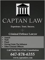 Criminal Defence Lawyer   Free Consults at (647) 878 - 6355