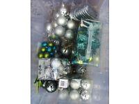 Christmas tree + decorations