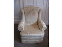 High Quality Wade Astoria Armchair Yellow / Gold Material Floral Pattern Scotchguard