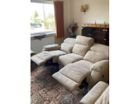 2 Electronic reclining sofas one 2 seater and one 3 seater