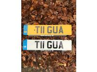 Private Personalised Cherished Registration Number Plate T11 GUA