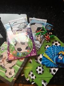Kids football party supplies