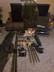 Complete carp set up