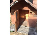 Wooden Playhouse Shed 6ft x 4ft plus 2 ft overhang