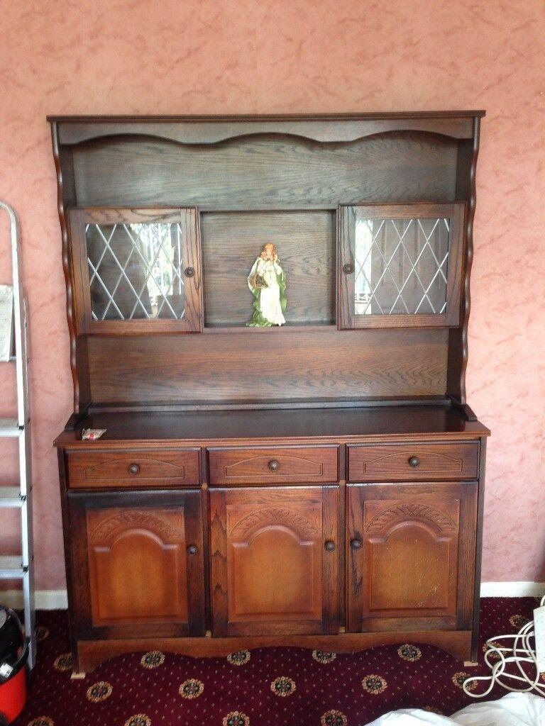 Huge Dark Wood Vintage Welsh Dresser Great