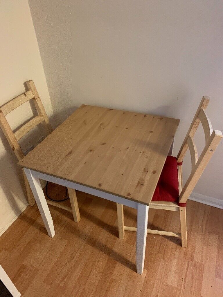 Ikea Small Square Dining Table And 2 Chairs With Cushions In Guildford Surrey Gumtree